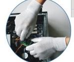 PU перчаток покрытия PU одежды ESD противостатический покрыл перчатки, перчатки ладони подходящие