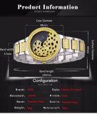 Signora vigilanza di lusso della lega dell'orologio delle donne del diamante del leopardo di modo di Belbi