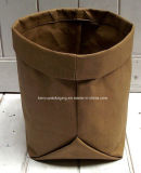 Brown Washable Kraft Bag Christmas Pot Seedling Grocery Washable Paper Bag