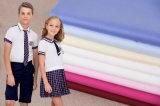Uniforme da escola camisa de algodão Camiseiros Tecido de poliéster