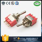 High Quality IP67 interrupteur à bascule DPDT Mini Toggle Switch (FBELE)