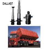 Cilindro telescópico hidráulico de vários estágios do petróleo da imprensa média curta do curso para o caminhão de descarga do Tipper
