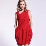 Señora en forma de globo Strechy recopilación completa Pante Roma Knit Dress