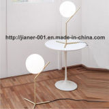 Zeitgenössischer Stativ-Glastisch-Lampen-Licht für Schlafzimmer
