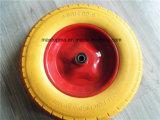 Roulette en mousse PU sans solvant 400-8 avec grand motif carré