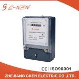 Счетчик энергии одиночной фазы использования дома цифрового регистра высокой точности Cken 220V электронный двухпроводной