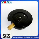 Double Scale 0-10 Bar 0-150psi Calibres de pressão de ar de flange traseira com caixa de aço preto Latão interno