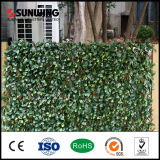 Giardino decorativo che recinta la pianta artificiale esterna poco costosa dei fogli