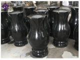 Design bonito Memorial de granito polido Heart-Shaped vasos de flores