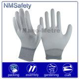 Blanco PU recubierto Guante de Palm Top Fit PPE Seguridad en el Trabajo