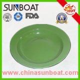 assiette végétale durable d'acier du carbone de diamètre de 16-20cm/plaque peinte par couleur