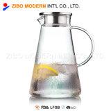 ガラス水Carafeのホウケイ酸塩ガラスはふたが付いている茶水差しを凍らした