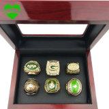 6PCS/Set освобождают высокое качество 1961 перевозкы груза кец подарка рождества кольца чемпионата 1965 1966 1967 1996 2010 упаковщиков Зелёного залива установленных