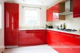 Modulaire Keukenkast van de Lak van de rode Kleur de Hoge Glanzende