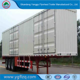 3 as 50 Tons Heavy-duty Van Truck Semi-Trailer met Koolstofstaal
