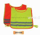 Alto chaleco de la seguridad de la visibilidad para los niños con el encierro elástico (DFV1046)