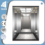 Elevação do passageiro com espelho gravados o aço inoxidável da velocidade 1,5m/s