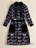 Diseño de última moda mujer vestimenta casual de seda de verano