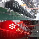 Mini LED indicatore luminoso capo mobile del fascio della fase 7X10W RGBW 4in1