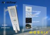 60W haute luminosité Light-Operated Téléphone intelligent de contrôle des feux de la rue solaire