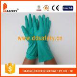 L'industrie Ddsafety 2017 nitrile vert non doublés Brassard droites des gants de sécurité
