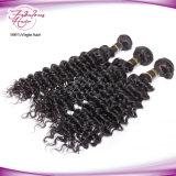 Première armure brésilienne de vente de cheveux humains de Remy d'onde profonde