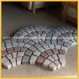 Серый/черный/желтый/красный гранит кубических камня, Cubestone, проложив камня, вымощенной камнем с поверхности