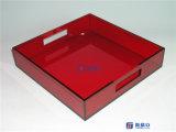 Plateau acrylique de portion d'OEM de luxe avec le logo ou l'impression