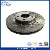 Perforado y obras de ranurado y modificar los discos del rotor de freno