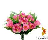 인공 적이고 Plastic/Silk Flower Rosebud/Carnation Mixed 부시 (2718057-19)
