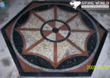 FlooringまたはPaving/Lobby Tiles (mm004)のための混合されたColor Waterjet Marble Medallion