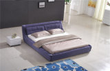 غرفة نوم أثاث لازم منزل أثاث لازم جلد سرير ليّنة