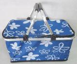 Maniglia due del cestino di acquisto piegante per la mobilia del supermercato