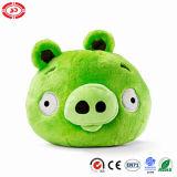Abitudine arrabbiata del maiale di verde dell'uccello del gioco della peluche farcita intorno al giocattolo