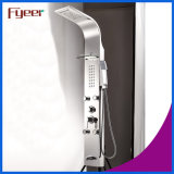 Fyeer Multifunction Massage Rainfall Stainless Steel Painel de chuveiro preto