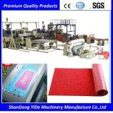 PVC 두 배 색깔에 의하여 살포되는 코일 지면 및 차 매트 플라스틱 압출기 기계