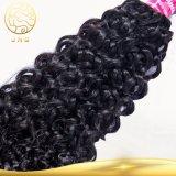 Estensione d'oltremare umana dei capelli Remy della donna della Cina dell'onda del nero indiano riccio grezzo a buon mercato all'ingrosso del Virgin