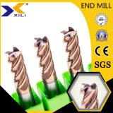 OEM HRC45/55/60/65 het Hoge Stevige Carbide van de Hardheid Molen van het Eind van 35 Graad de Vierkante Vlakke