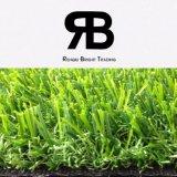 Alfombra artificial sintetizada de la hierba de la decoración del paisaje para el jardín