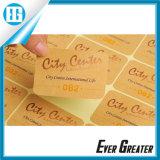 Etiquetas engomadas redondas claras de encargo, etiqueta del papel de Kraft