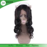Ondas soltas Virgem indiano preto natural de cabelo humano Lace Frontals 360