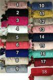 Longue écharpe des écharpes 100%Cotton de mode bon marché en gros de femmes pour l'hiver