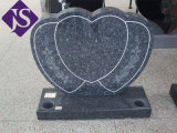 Совершенно черный памятник надгробной плиты гранита