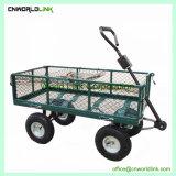 300kgs Folding 무겁 의무 Antique Green 정원 Cart Iron Wagon