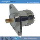 Ficha RF UHF (SL16) Tomada fêmea reta (UHF Flange(SL16)-KF flange prismática)