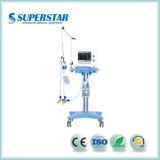 Ventilador de la ICU chino S1600 barata Respirador compresor de aire