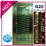 SUS304 (ES-7012)の艶出しのトリムが付いている金属のステンレス鋼のドア