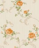 Preço gravado do papel de parede do vinil da classe 2016 elevada com flor