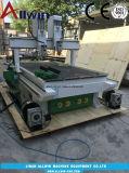 1300x2500x350mm Dos jefes Wood Router CNC Máquina con el eje de rotación