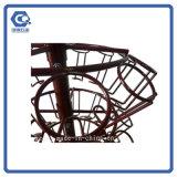 Стеллаж для выставки товаров заедк конфеты провода 4-Ярусов металла Пол-Стоя